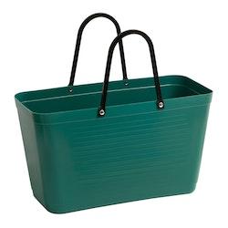 Hinzaväska stor Mörkgrön, Green Plastic