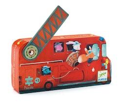 Djeco siluettpussel Fire truck