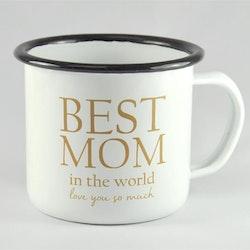Mellow Design emaljmugg Best Mom