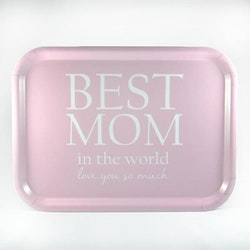 "Mellow Design liten bricka ""Best Mom"" rosa"