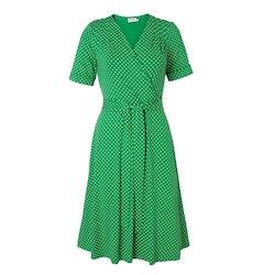 Jumperfabriken Celia short sleeve dress green