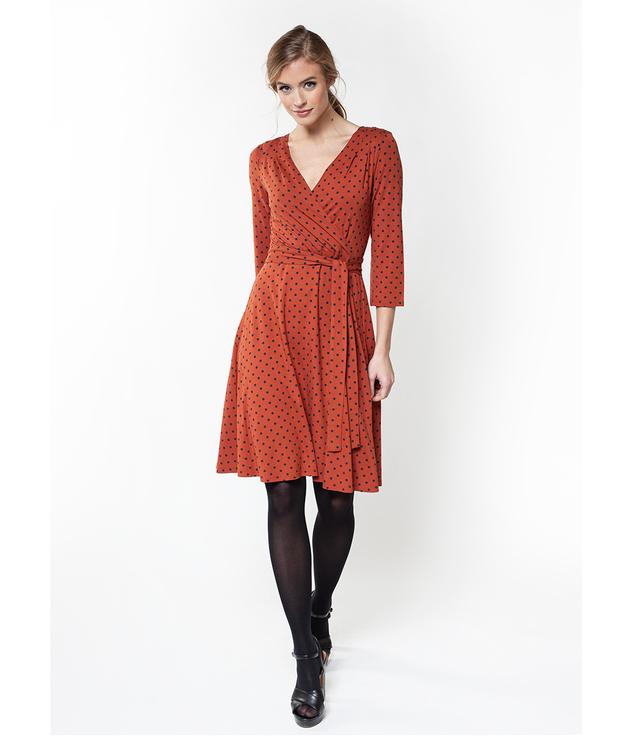 Jumperfabriken Celia Dot dress brown