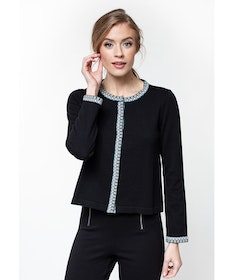 Jumperfabriken Ingalill cardigan black
