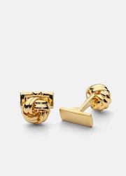 Skultuna Knot manschettknappar guld