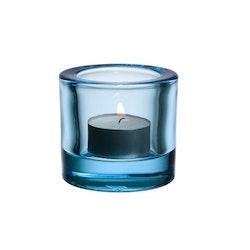 Iittala Kivi ljuslykta ljusblå