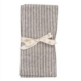 Chamois Stripe servetter 2-pack Dark Grey