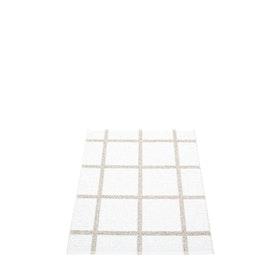 Pappelina matta Ada White · Stone metallic 70x100 cm