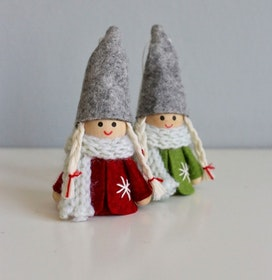 Snow Nordic juldekoration Santa Girls 2-pack