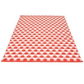 Pappelina matta Dana Coral red · Piglet · Vanilla 180x275 cm