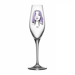 """Kosta Boda All About You """"Forever Mine"""" champagne 2-pack"""