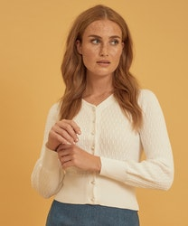 Jumperfabriken Johanna cardigan white