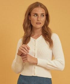 Jumperfabriken Johanna cardigan white