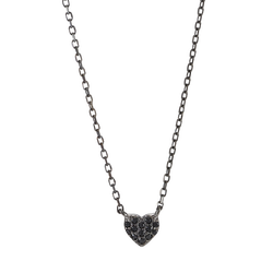 Joanli Nor halsband Alma heart svart