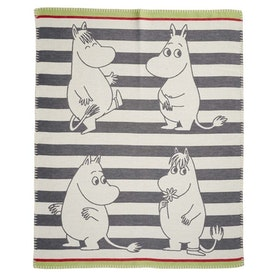 Klippan Yllefabrik bomullsfilt Moomin grey