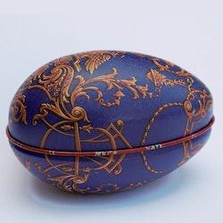 Påskägg Faberge Blå med dubbelörn