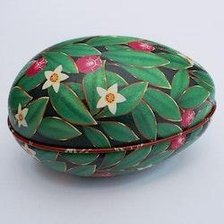 Påskägg Faberge Grön med blommor