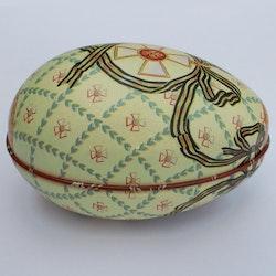Påskägg Faberge Ljusgrön med kors