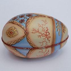 Påskägg Faberge Beige med kvist