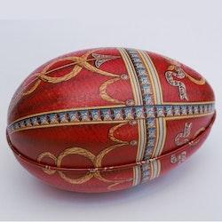 Påskägg Faberge Röd med pil