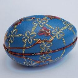 Påskägg Faberge Blå med blomma