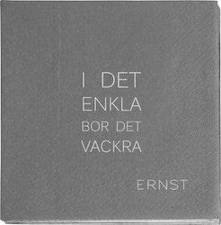"ERNST ""I det enkla"" servett grå"