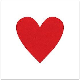 Nobhilldesigners kort med kuvert Hjärta röd
