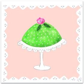 Nobhilldesigners kort med kuvert Princesstårta