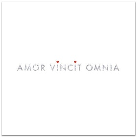 "Nobhilldesigners kort med kuvert ""Amor vincit omnia"""