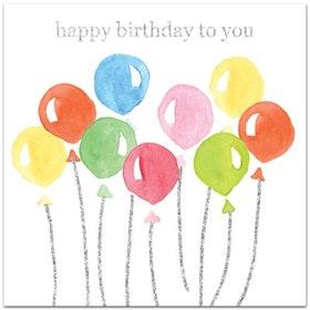 "Nobhilldesigners kort med kuvert ""Happy Birthday to You"""