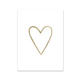 Nobhilldesigners litet kort Hjärta guld