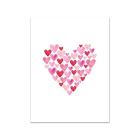 Nobhilldesigners litet kort Hjärta rosa