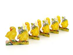 Påskdekoration pappersrad Kycklingar