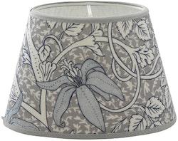 Hallbergs Classic Foliage oval lampskärm grå