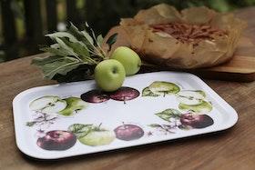 Anna Göran Design fyrkantig bricka Äpplen
