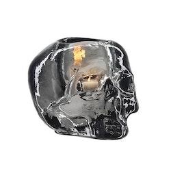 Kosta Boda Still Life Skull ljuslykta grå