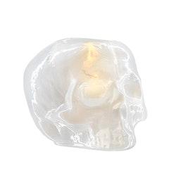 Kosta Boda Still Life Skull ljuslykta vit