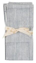 Chamois Stripe servetter 2-pack Sea blue
