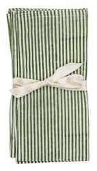 Chamois Stripe servetter 2-pack Forest green