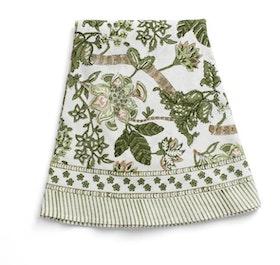 Chamois Floral Print rund duk Olive