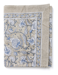 Chamois Pomegranate duk cotton blue