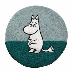 Klippan Yllefabrik Grytunderlägg Moomin blå