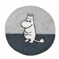 Klippan Yllefabrik Grytunderlägg Moomin grå