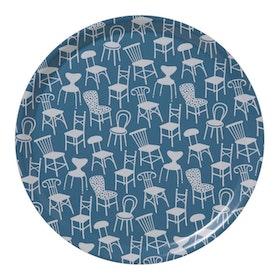Klippan Yllefabrik Chairs rund bricka
