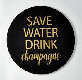 Mellow Design glasunderlägg Champagne svart/guld