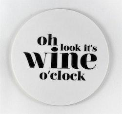 Mellow Design glasunderlägg Wine o'clock