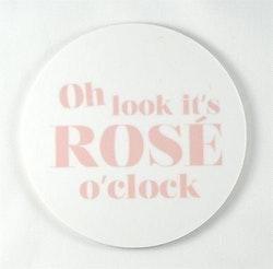 Mellow Design glasunderlägg Rosé o'clock vit