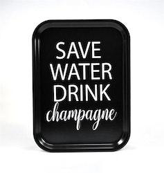 Mellow Design liten bricka Champagne svart/vit