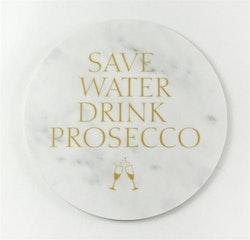 Mellow Design glasunderlägg Prosecco marmor/guld