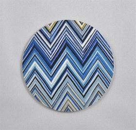 Mellow Design glasunderlägg Zig zag blå