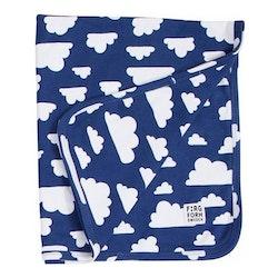Färg&Form Moln babyfilt blå